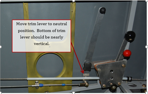 Elevator Trim Cable Installation